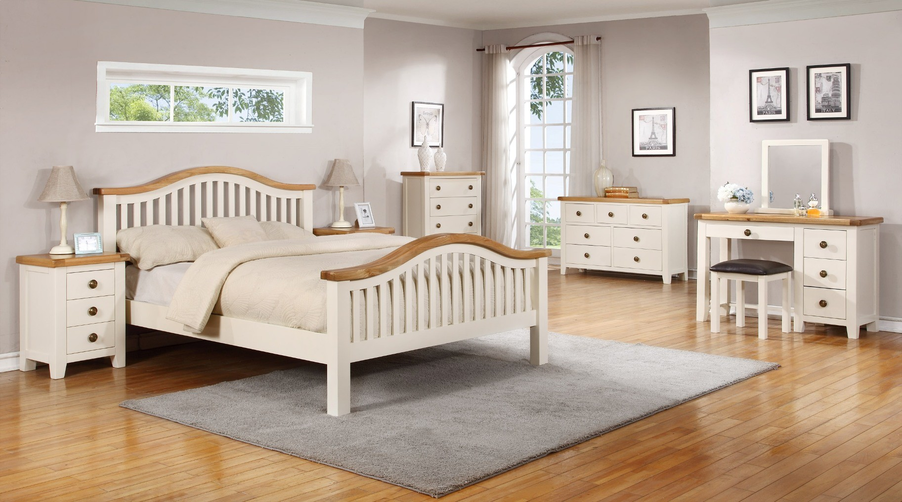 Nore 4'6 bedframe with high foot end
