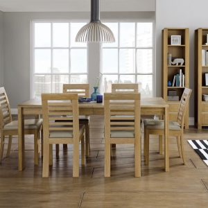 Bergen Oak Large Extending Dining Table