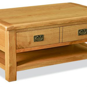 Bask Large Coffee Table With Drawers