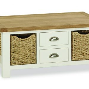 Loire Large Coffee Table With Baskets