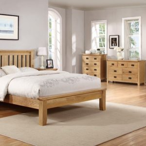 Suir 5ft bedframe with low foot end
