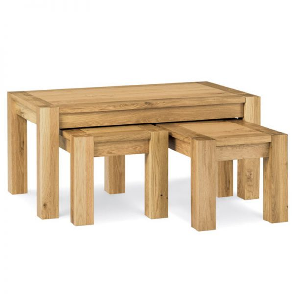 Albany Oak Nest Of Coffee Tables