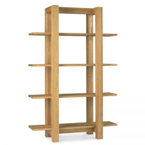 Albany Oak Open Bookshelf