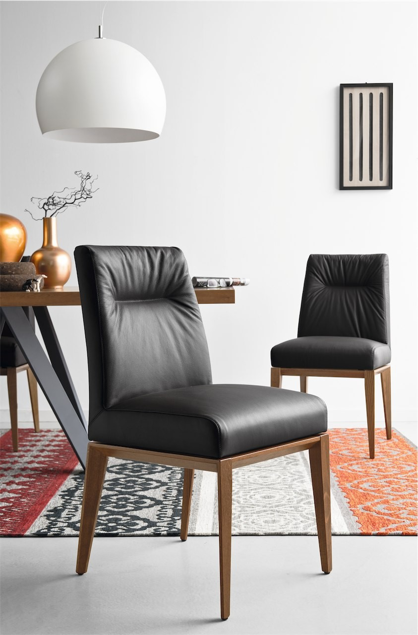 Calligaris Tosca Leather Dining Chair Frank Mc Gowan