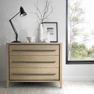 Danube 3 drawer wide chest
