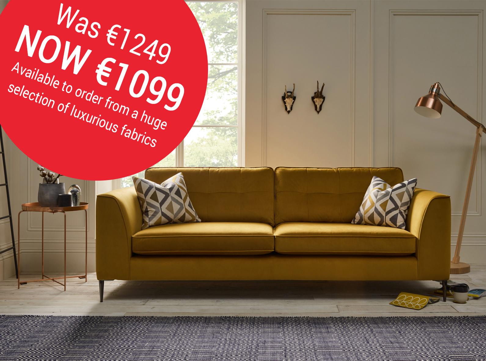 Lorenzo sofa in mustard